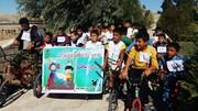 دوچرخهسواری کودکان و نوجوانان به مناسبت گرامیداشت هفته ملی کودک و ناجا