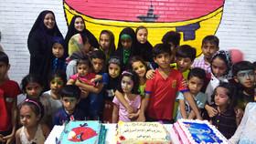 برگزاری برنامه کودکان شاد شهرم  به مناسبت هفته ملی کودک در ابوموسی