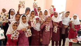 مربیان مرکز فرهنگی هنری کانون ابوموسی شادی را به مدرسه بردند