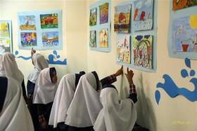 نمایشگاه نقاشی«آب عزیز» به مناسبت هفتهی ملی کودک -  به همت موسسه دیجیتال سیب و کانون پرورش فکری استان یزد- مهر97