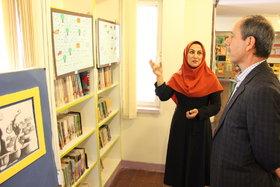 بازدید مدیر کل کانون تهران از نمایشگاه آثار اعضای مرکز فراگیر شماره ۲۴