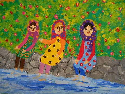 ملیکا احدی عضو مرکز قروه در جزین برگزیده مسابقه نقاشی «کائو» کشور ژاپن شد