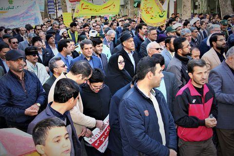 حضور اعضای کانون خراسان شمالی در راهپیمایی 13 آبان