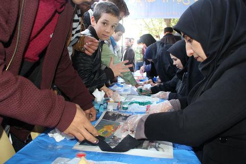 فعالیتهای کانون در مسیر راهپیمایی روز ملی مبارزه با استکبار جهانی در تبریز