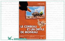پرواز کلاغها و گنجشک شگفتانگیز ایرانی روی پرده نانت فرانسه