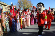 شادپیمایی عروسک ها در سنندج به روایت تصویر