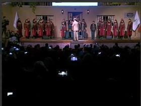 اجرای سرود باغآسمون از سوی گروه همخوانی آفرینش اعضای مراکز کانون تهران