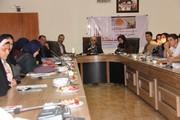 اعضای انجمن ادبی آفتاب در کنار فرهاد حسنزاده نویسنده رمان «هستی»