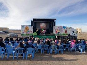 اجراهای تماشاخانه سیار جدید کانون در روستاهای قم