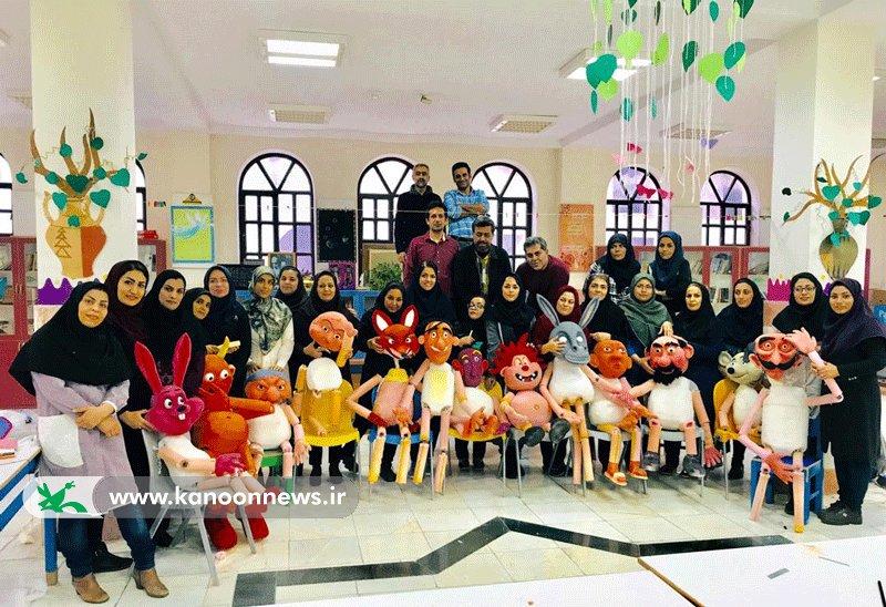 پایان کارگاه آموزشی سه روزه ساخت عروسک های نمایشی(بوشهر)