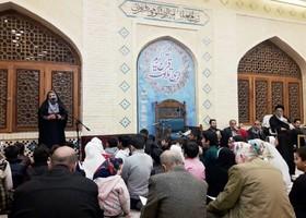 قصهگویی مربی فرهنگی کانون گلستان در کرسی تلاوت قرآن مسجد جامع گلشن گرگان