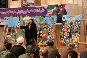 روایت هنرمندانه انقلاب توسط عضو نوجوان کانون پرورش فکری گلستان