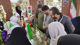 گل زار شهدای سلیمانداراب رشت گلباران شد