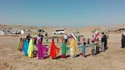 طنین شادی کودکان عشایری در جشن تولد چهلسالگی انقلاب اسلامی