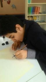 راه یابی عضو نوجوان مرکز ۲ کانون کرج به مرحله خوش انجمن خوشنویسان
