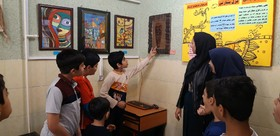 افتتاح نمایشگاه آثار هنری اعضا مرکز هشتگرد کانون البرز