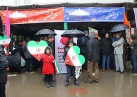 حضور کارکنان و اعضای کانون گیلان در راهپیمایی ۲۲ بهمن