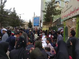 """"""" ایستگاه انقلاب """" کانون پرورش فکری سیستان و بلوچستان در مسیر راهپیمایی ۲۲ بهمن"""
