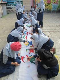 نقاشی انقلاب روی پارچه ۴۰ متری در مراکز کانون