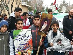 حضور کودکان و نوجوانان در راهپمایی 22 بهمن سراسر استان +تصاویر