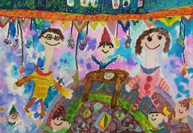 نشانهای طلا و برنز مسابقه «بُنسکا» بلغارستان در دست کودکان نقاش خوزستانی