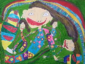 امیرعلی رشیدیان 6 ساله، از مرکز فرهنگی هنری مجتمع کانون کرمانشاه