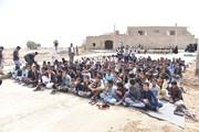 طرح امداد فرهنگی 《پیک امید》 در روستاهای سیستان و بلوچستان در حال برگزاری است