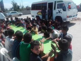 پیک امید کانون خوزستان همچنان در کنار کودکان