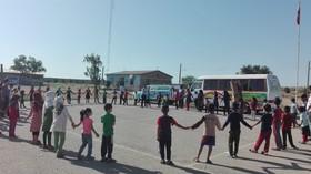 پیک امید کانون در محل اسکان سیلزدگان شهرستان حمیدیه