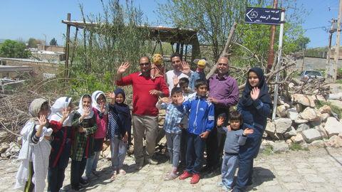 گزارش تصویری از کاروان شادی کانون لرستان در «روستای ریقان» شهرستان چگنی