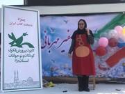قصهگویی مربی کانون یزد در نمایشگاه کتاب تهران