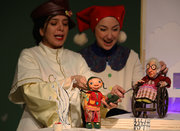 Performing show The Bald Pigeon Fancier at theater center of kanoon