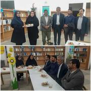 حضور اعضای محترم شورای شهر و شهردار سرکان به مناسبت هفته معلم در مرکز