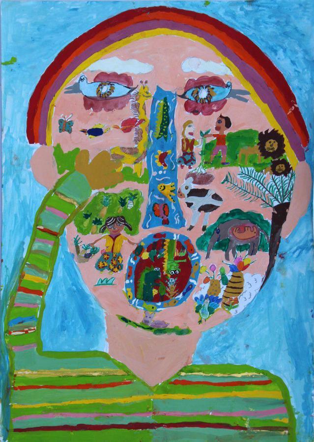 آتنا حسینی 10 ساله عضو مرکز فرهنگیهنری کانون یاسوکند استان کردستان