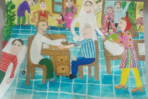 اعضای کانون برگزیده مسابقه نقاشی سازمان جهانی بهداشت شدند