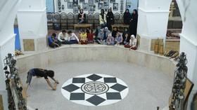 بازدید اعضای کانون پرورش فکری یزد از زورخانهی حضرت ابوالفضل
