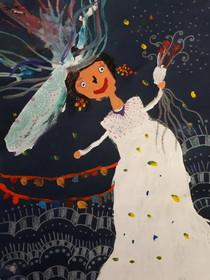 درخشش عضو هنرمند کانون پرورش فکری زنجان در مسابقه نقاشی «نوا زاگورا» کشور بلغارستان