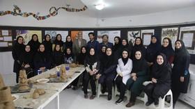 گزارش تصویری بزرگداشت فردوسی(۲) ساخت سردیس شخصیتهای شاهنامه کانون پرورش فکری کودکان ونوجوانان یزد- اردیبهشت ۹۸
