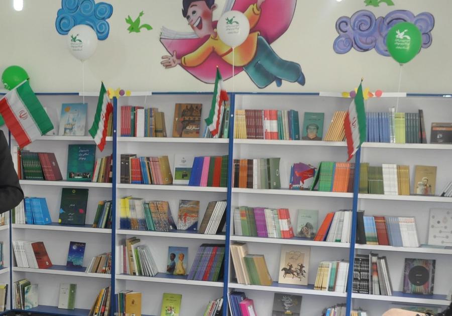 افتتاح کتابخانه درون مدرسه در بخش قره پشتلو