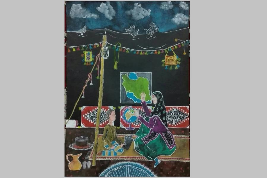 نوجوان خوزستانی عضو کانون برگزیده کشوری مسابقه نقاشی باربارا پیچنیک شد