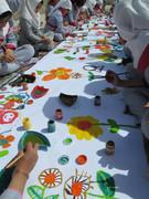 کودکان دیواندره ای در ایستگاه نقاشی دسته جمعی گلباران شهرم خرمشهر شرکت کردند