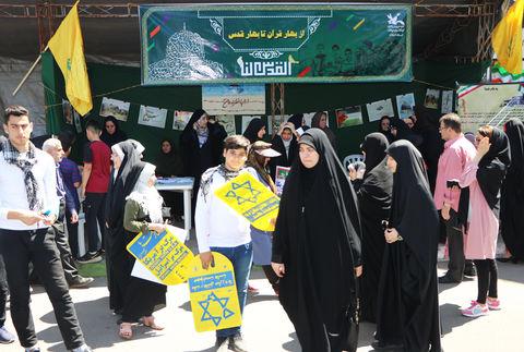 نمایش همدلی کانونیها در حمایت از ملت مظلوم فلسطین - شهرستان رشت