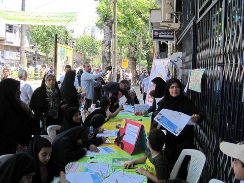 نمایش همدلی کانونیها در حمایت از ملت مظلوم فلسطین - شهرستان لنگرود