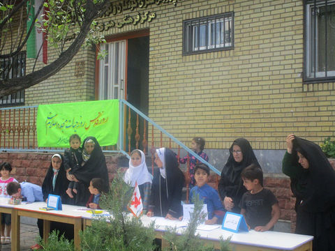 کارگاههای فرهنگی هنری مراکز کانون آذربایجان شرقی در مسیر راهپیمایی«روزجهانی قدس»