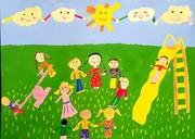 نقاشی های ارسالی بچه های ایلامی برای جشنواره نقاشی بلغارستان