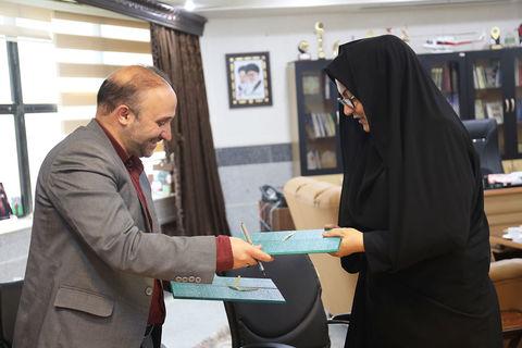 گزارش تصویری تفاهم نامه همکاری بین کانون پرورشفکری و جمعیت هلالاحمر خراسان شمالی