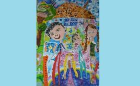 نشان و دیپلم افتخار مسابقه بینالمللی نقاشی بلاروس در دستان کودکان خوزستانی
