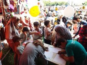 غرفهی کانون نمین، میزبان کودکان و نوجوانان در هفتمین جشنوارهی گلهای بابونه