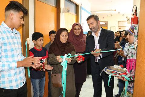 آیین گشایش نمایشگاه به رنگ فیروزهای در کانون سمنان