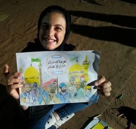 برپایی ایستگاه «نقاشی کبوترانه» در دهکده شادی طلای سرخ قاینات